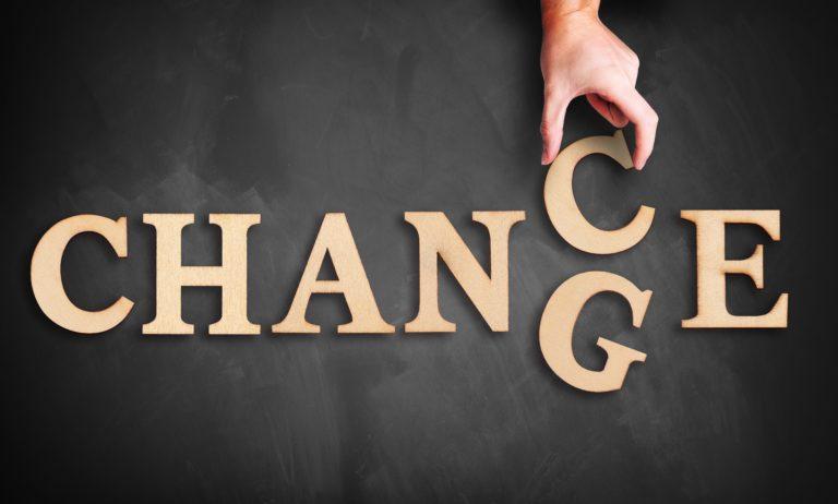 Das Wort Change wird zu Chance